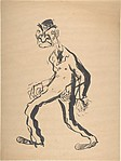 Caricature of a Walking Man