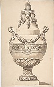 Urn with Acanthus Base and Flambeaux Top