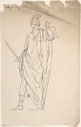 Drawing of Female Statue with Sword and Scale