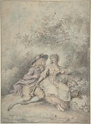Seated Couple in a Bower