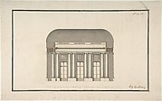Section of a Ballroom: Three Doorways between Sets of Two Columns