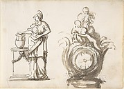 Design for a Clock with a Classical Female Figure