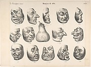 Masks of 1831, published in La Caricature