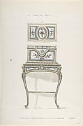 Design for a Jewel Coffer on a Writing Stand