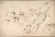 Fantastic Subject: Five Nude Male Figures Punishing Another