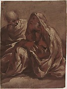 Two Seated Bearded Male Figures