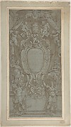 Modello for Ceiling Fresco with Papal Coat of Arms