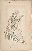 A Woman Spinning (recto); A Woman Holding a Bundle (verso)