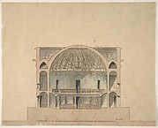 Design for the Interior Elevation of a Theater