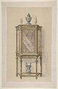Design for a Cabinet with a Vitrine