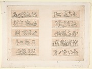 Plate with Ten Bacchanal Scenes