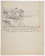 View of the Château de Chillon on Lake Geneva