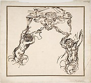Satyrs Supporting an Ornamental Motif