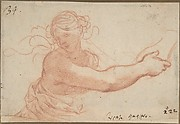 Half-Figure of a Bacchante with Outstretched Right Arm