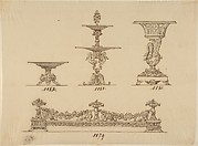 Design for a Compote Dish, a Server and an Urn