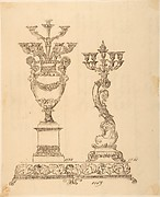 Designs for Two Candelabras and a Pedestal