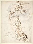 Design for a Cartouche (recto); Designs for Frames (verso)