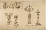 Designs for Three Candelabras and an Urn