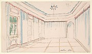 Drawing of an Interior: Salon