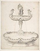 Design for a Fountain with Two Basins One on Top of the Other and Statues of Venus and Putti on the Top.