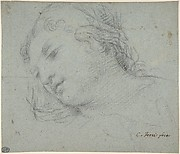 Head of a Woman (recto); Head of a Child, Study of Children's Forearms (verso)