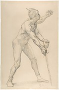 Nude Male Figure with a Sword