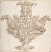 Design for an Urn with Eagle Motif.