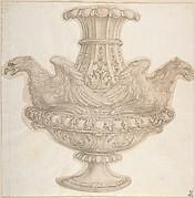 Design for Vase with Eagles