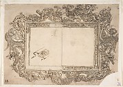 Ornamental Picture Frame Decorated Alternatively with Putti, Angels, Volutes and Garlands