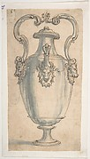 Design for a Ewer with Bull's Heads under the Handels and Spout