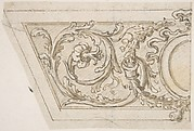 Left Side of a Panel Decorated with Acanthus Scrolls and an Oval Medallion