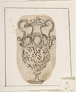 Sketch for an Urn Decorated with Garlands and the Head of a Satyr.