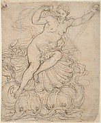 Galatea on her Chariot drawn by Dolphins