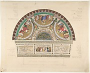 Design for a Ceiling at Théatre Français, Paris