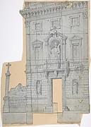 Design for a Stage Set at the Opéra, Paris: Building Façade