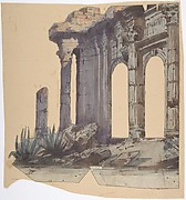 Design for a Stage Set at the Opéra, Paris: Columned Exterior