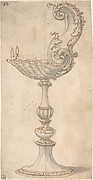 Design for a Cup or Reliquary Composed of a Shell and S-Volute.