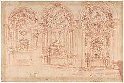 Design for a Catafalgue Used on the Occasion of the Canonization of Saint Mary Magdalen de' Pazzi, Florence, 1669.