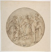 Three Allegorical Figures in a Roundel.