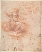Young Woman on a Cloud