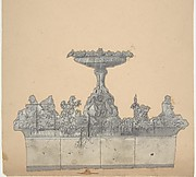 Design for a Stage Set at the Opéra, Paris: A Fountain