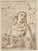 Half Figure of a Female Saint