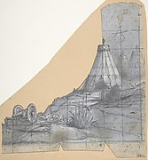 Design for a Stage Set at the Opéra, Paris: Tent and Overturned Wagon