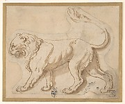 "A Lion in Profile Facing to the Left (""Leo"")"