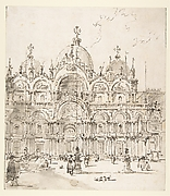 View of Piazza with Basilica of San Marco