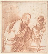 Saint Joseph Seen with his Flowering Staff, which is Held by the Christ Child