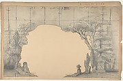 Design for a Stage Set at the Opéra, Paris: Cemetery