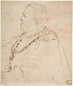 Waist-Length Portrait of a Man Wearing the Order of the Golden Fleece, in Profile Facing Left