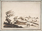 Landscape with Figures and a Two-Arched Bridge