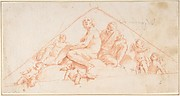 Seated Apostles and Putti